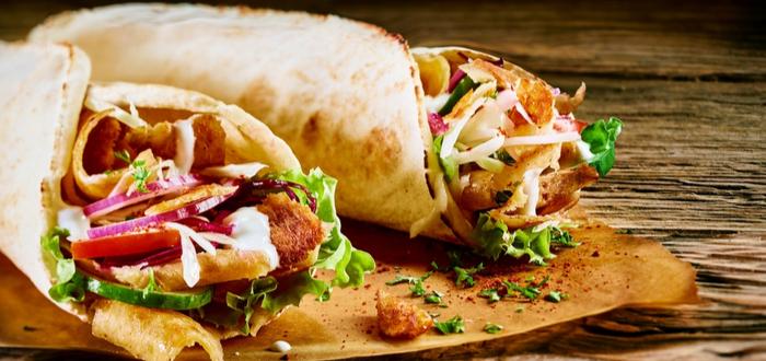 Comida típica de Irán. Kebab