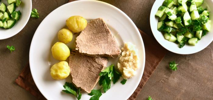 Comida típica de Austria. Tafelspitz
