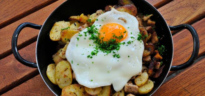 Comida típica de Austria. Tiroler Gröstl