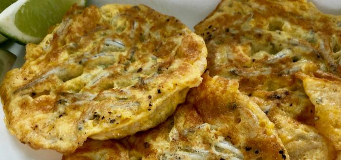 Comida típica de Nueva Zelanda. Whitebait Fritter