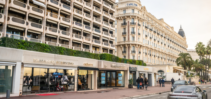 Qué ver en Cannes. Boulevard La Croisette