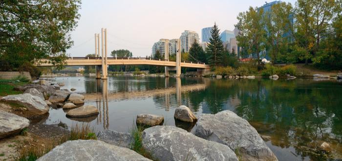 Qué ver en Calgary. Princes Island Park