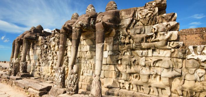 Qué ver en Siem Reap. Terraza de los Elefantes