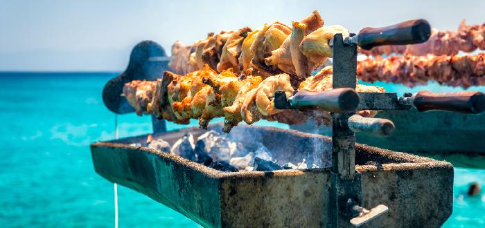 típica de Chipre   souvla kebab