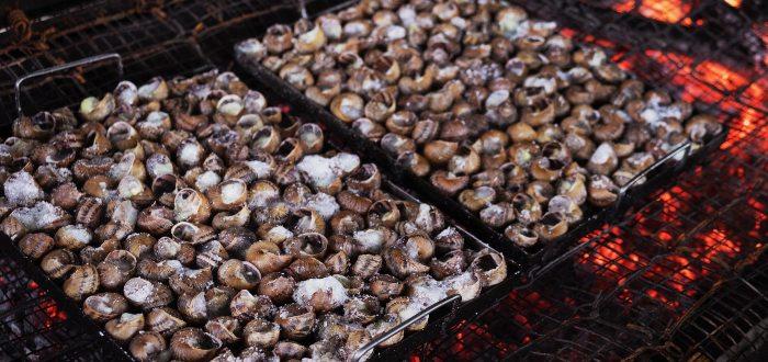 Comida típica de Andorra, Cargols a la llauna
