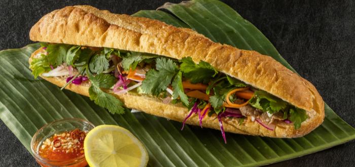 Comida típica de Vietnam. Bánh Mi