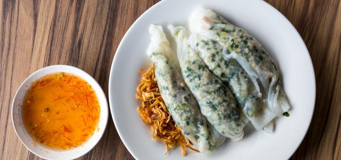 Comida típica de Vietnam. Bánh cuon