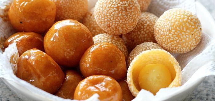 Comida típica de Vietnam. Banh Ran Thit