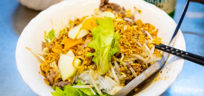 Comida típica de Vietnam. Bun bò