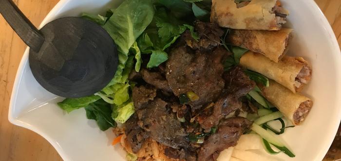 Comida típica de Vietnam. Bun cha