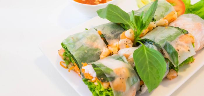 Comida típica de Vietnam. Goi Cuon