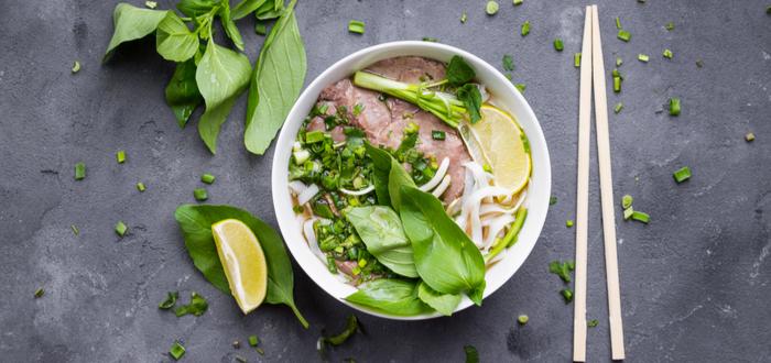 Comida típica de Vietnam. Pho