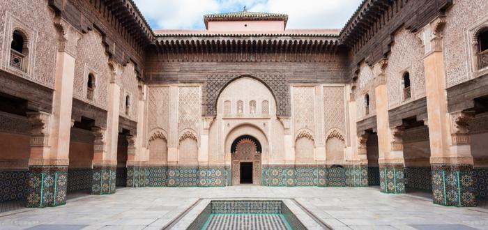 Los mejores planes en Marrakech para un viaje único. Medersa Ben Youssef