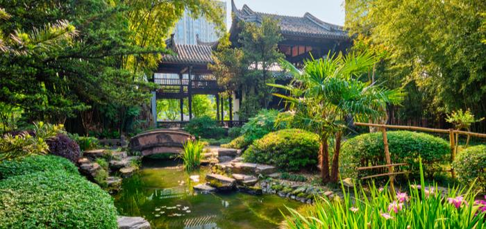 Que ver en Chengdu. Wangjiang Pavilion Park