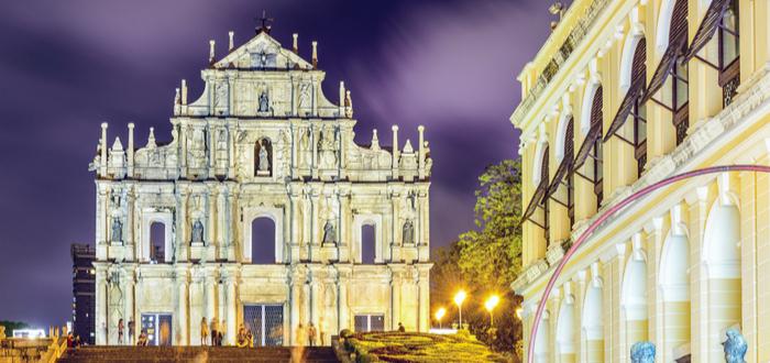 Qué ver en Macao. Ruinas de la catedral de San Pablo de Macao