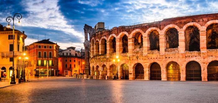 Las 10 plazas de Italia más bonitas. Piazza Bra (Verona)
