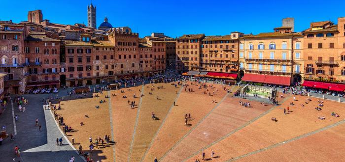 Las 10 plazas de Italia más bonitas. Piazza del Campo (Siena)