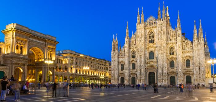 Las 10 plazas de Italia más bonitas. Piazza del Duomo (Milán)