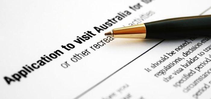 Formulario de visa para Australia de turismo