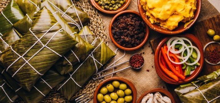 Hallacas, comida típica de Venezuela