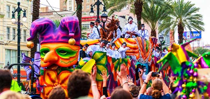 Mardi Gras en Nueva Orleans (Estados Unidos)