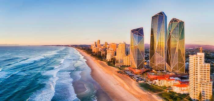 Vista panorámica de una ciudad de Australia