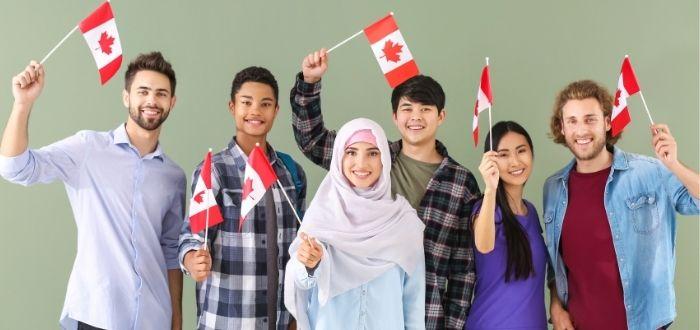 Turistas con visa para Canadá