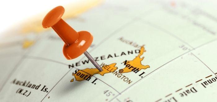Ubicación geográfica de Nueva Zelanda