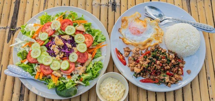 Khao Pad, comida thai