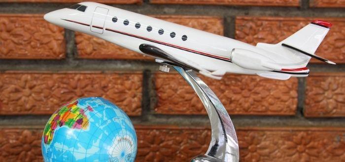Avión en miniatura