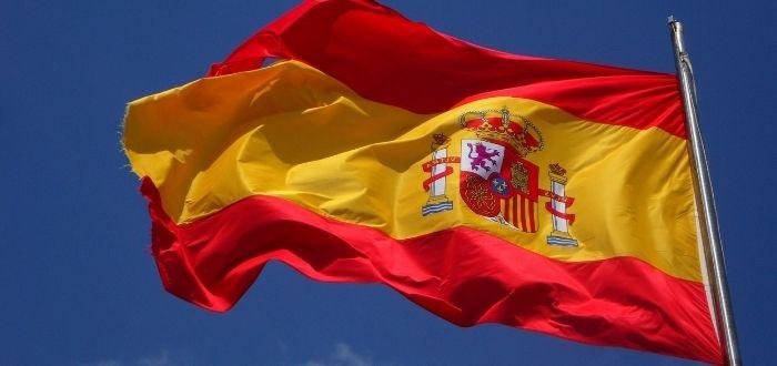 Bandera de España ondeando | Visa para España