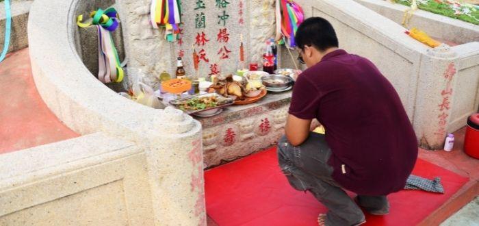 Celebración del día de los muertos en China